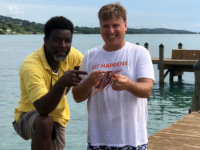 Roger J. Muller, Jr and friend from Grand Cayman