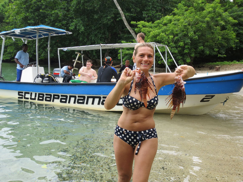 Lionfish hunting in Panama