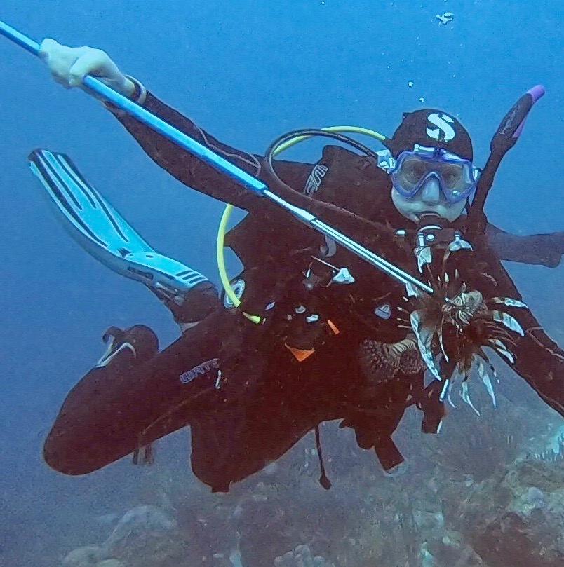 Roger Muller with lionfish