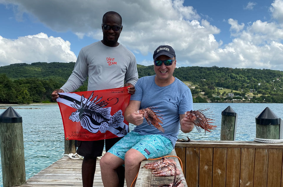Lionfish hunting in Jamaica