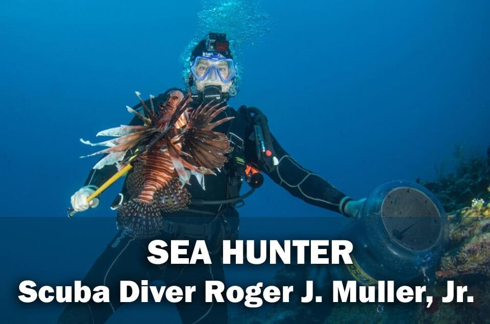 Lionfish Hunter Roger J. Muller, Jr. in the Grand Caymans