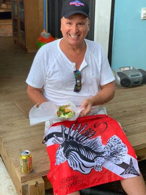 Roger Muller at Lionfish Snack Aruba