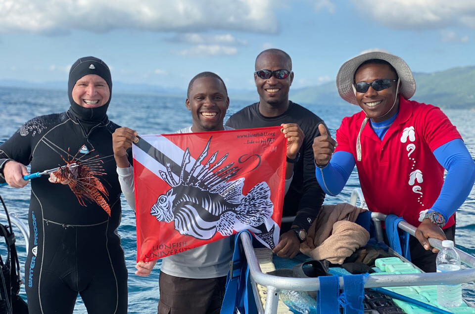 Instructors Everett Forbes, Demaine, Divemaster Byron and myself
