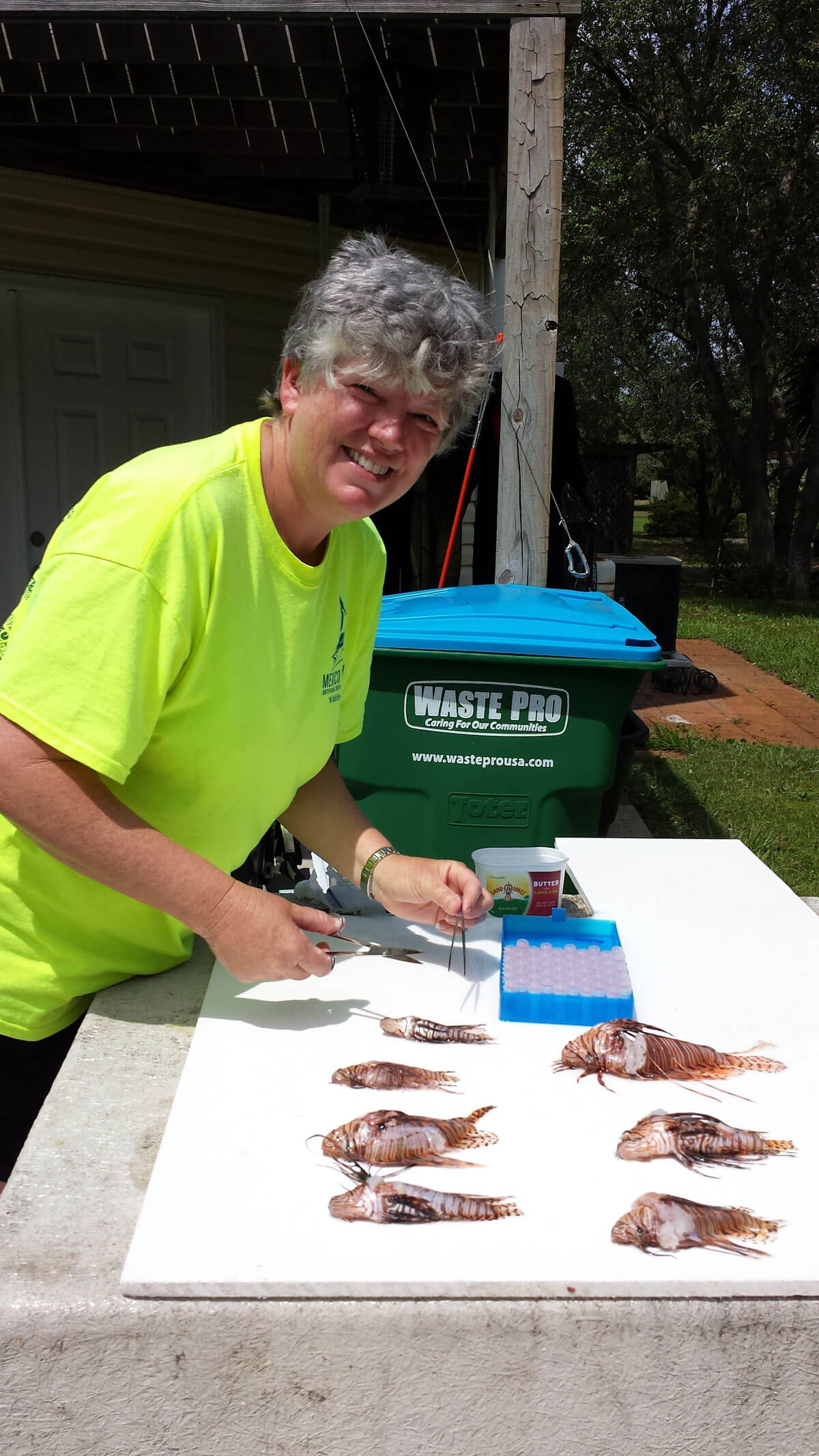 Carol COx cleaning lionfish