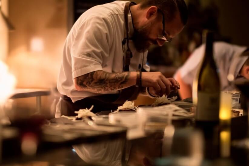 A chef at Bucuti & Tara beach resort