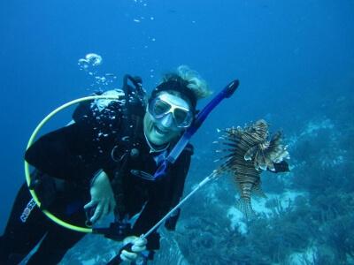 Susan Hieter Scuba diving