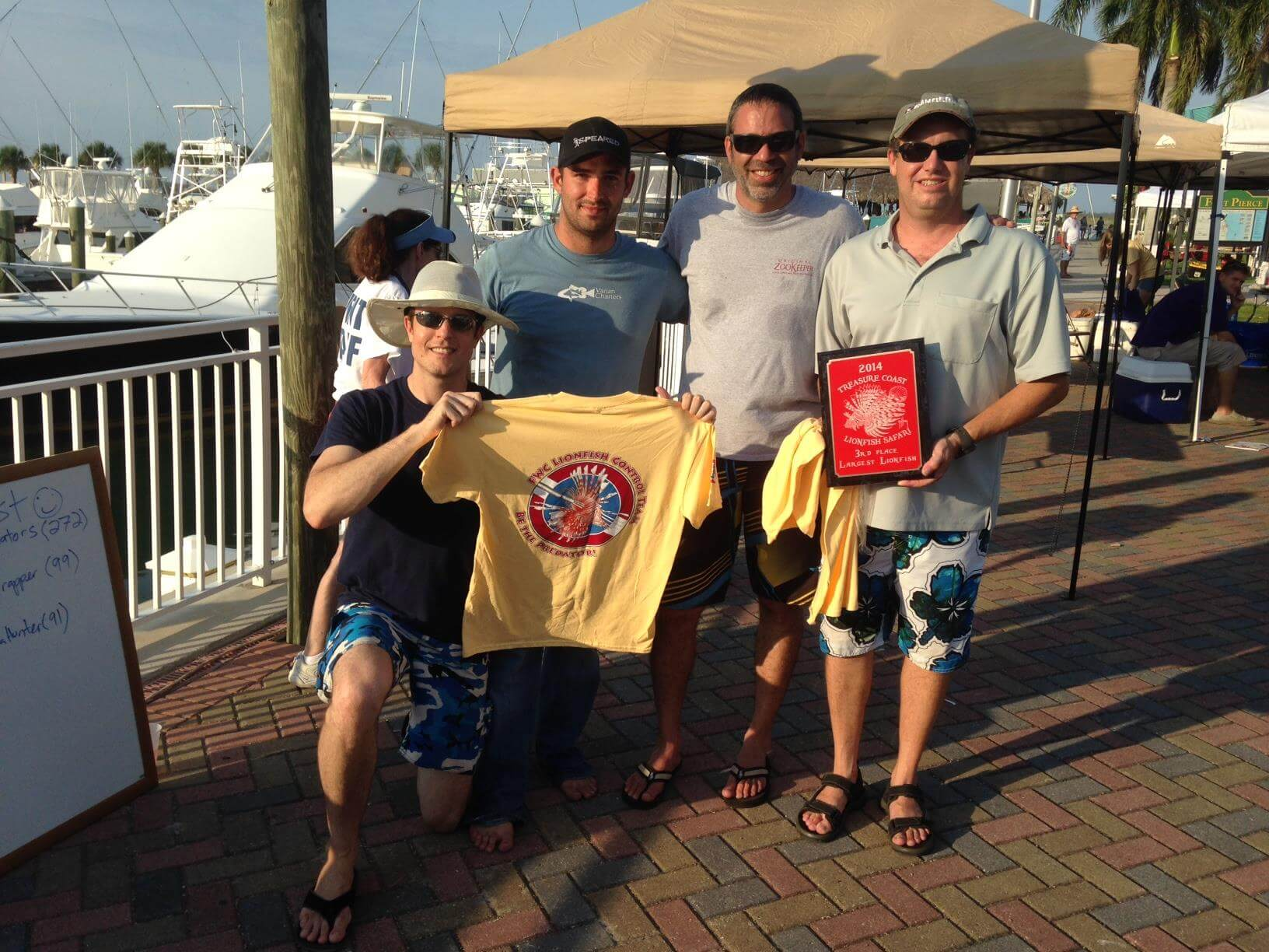 Andy Lowe and lionfish hunting team