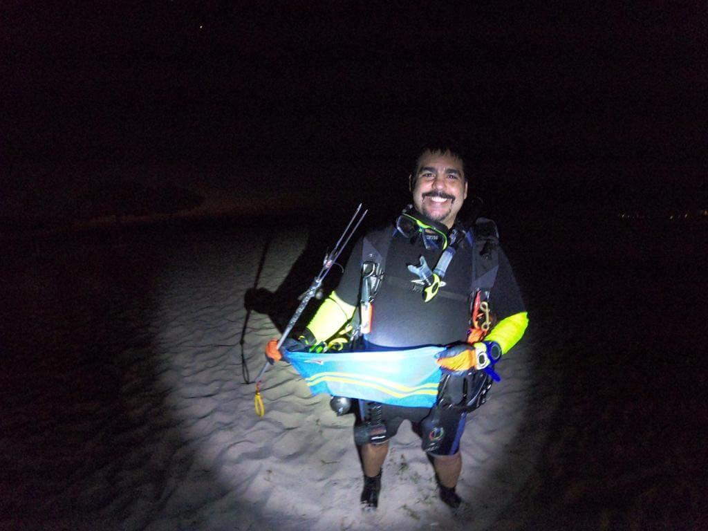 Rafael A. Flores Jr. diving